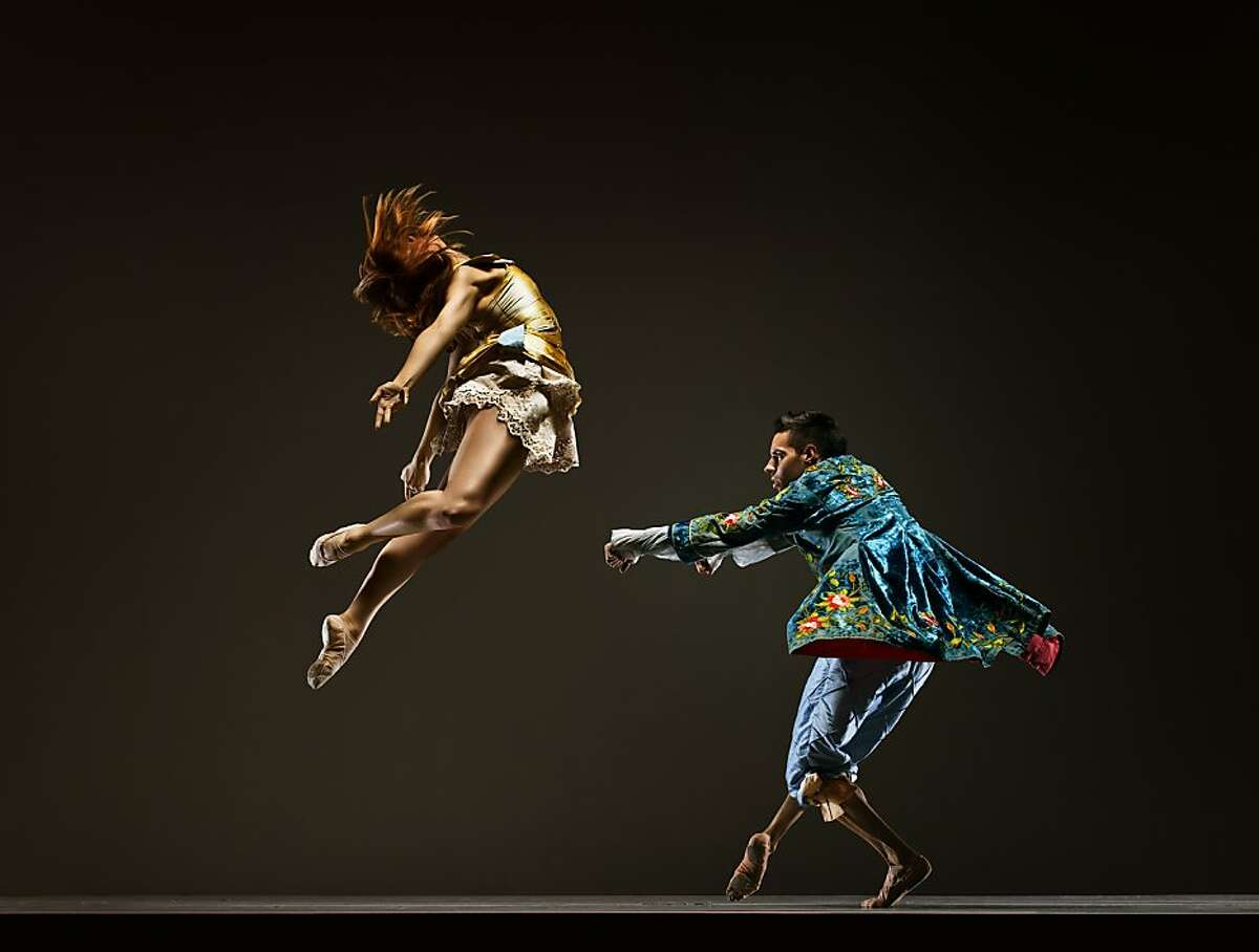 """Dancers (L-R) are Caitlin Kolb and Dexandro """"D"""" Montalvo. in Robert Moses Kin"""