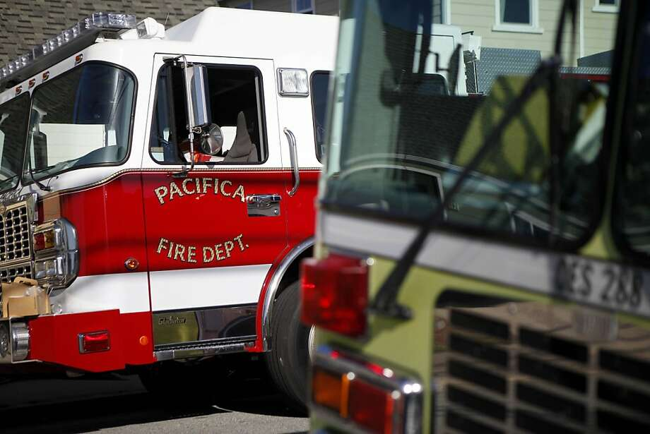 A fire broke out in a home in Pacifica on Sunday, April 1, 2012. Photo: Sean Culligan, The Chronicle