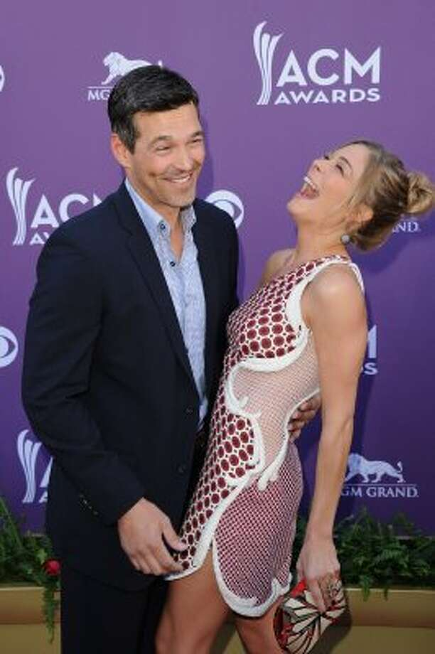 LAS VEGAS, NV - APRIL 01:  (L-R) Actor Eddie Cibrian and singer LeAnn Rimes arrive at the 47th Annual Academy Of Country Music Awards held at the MGM Grand Garden Arena on April 1, 2012 in Las Vegas, Nevada.  (Photo by Jason Merritt/Getty Images) (Jason Merritt / Getty Images)