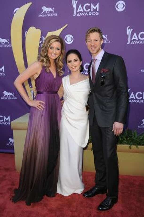 LAS VEGAS, NV - APRIL 01:  Singers Cherrill Green, Hannah Blaylock, and Dean Berner of Edens Edge arrive at the 47th Annual Academy Of Country Music Awards held at the MGM Grand Garden Arena on April 1, 2012 in Las Vegas, Nevada.  (Photo by Jason Merritt/Getty Images) (Jason Merritt / Getty Images)