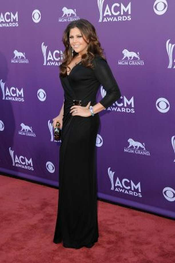 LAS VEGAS, NV - APRIL 01:  Singer Hillary Scott of Lady Antebellum arrives at the 47th Annual Academy Of Country Music Awards held at the MGM Grand Garden Arena on April 1, 2012 in Las Vegas, Nevada.  (Photo by Jason Merritt/Getty Images) (Jason Merritt / Getty Images)