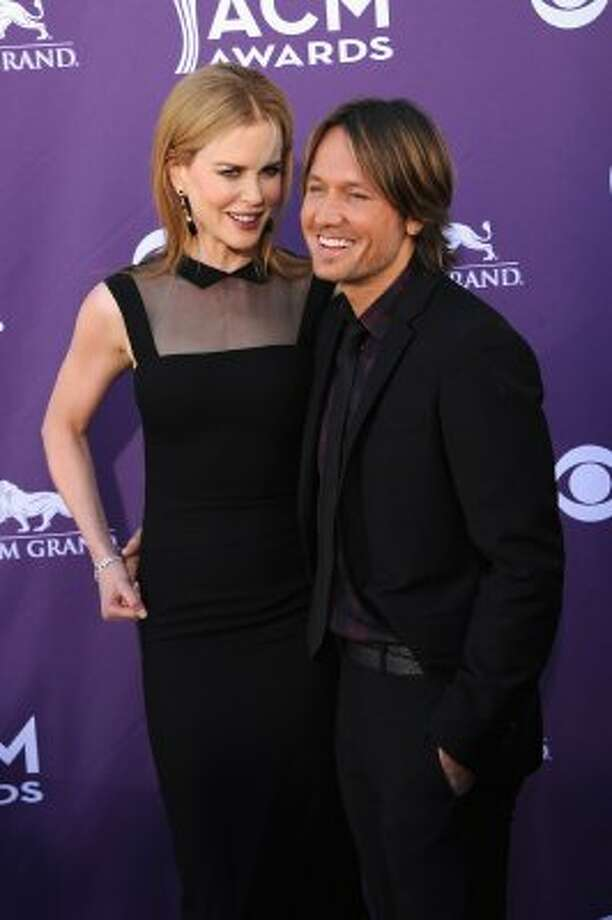 LAS VEGAS, NV - APRIL 01:  Actress Nicole Kidman (L) and musician Keith Urban arrive at the 47th Annual Academy Of Country Music Awards held at the MGM Grand Garden Arena on April 1, 2012 in Las Vegas, Nevada.  (Photo by Jason Merritt/Getty Images) (Jason Merritt / Getty Images)