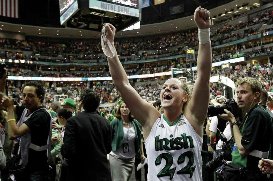 Notre Dame guard Brittany Mallory had seven points in overtime. Photo: AP