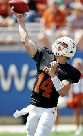 The Longhorns don't need to see miraculous improvement from QB David Ash to challenge for the Big 12 title. Photo: EDWARD A. ORNELAS, San Antonio Express-News / © SAN ANTONIO EXPRESS-NEWS (NFS)