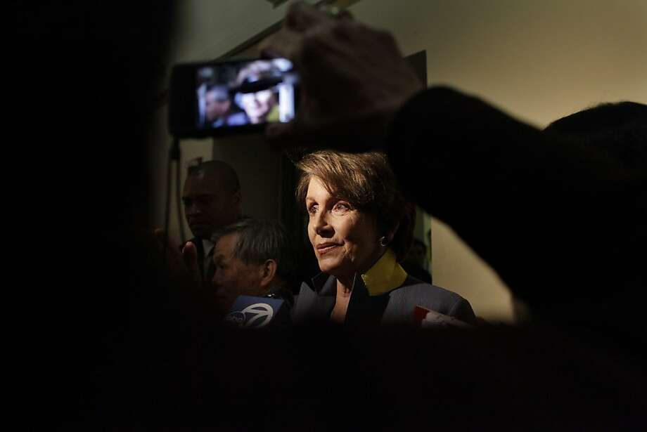 House minority leader Nancy Pelosi leaves a Women's Health Care rally  at the Women's Building on the second anniversary of the Affordable Care Act on Friday, March 23, 2012 in San Francisco, Calif. Photo: Lea Suzuki, The Chronicle