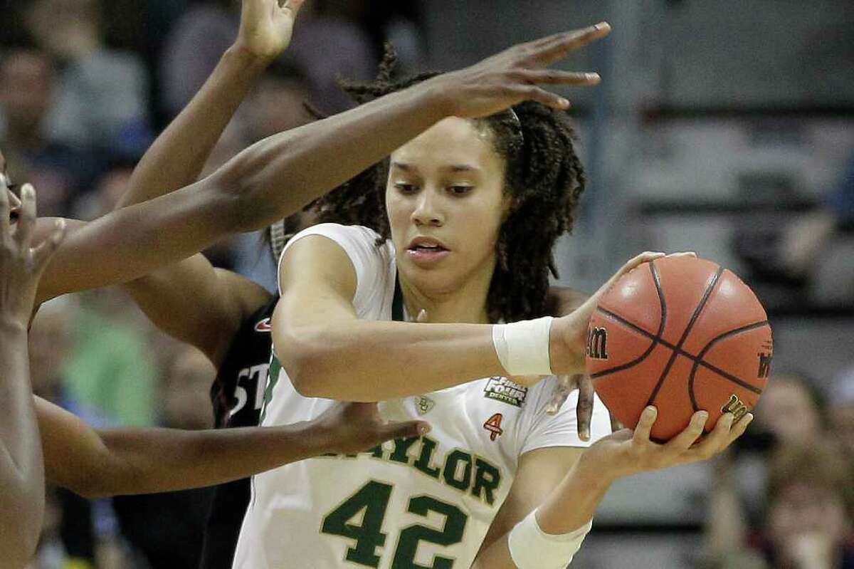 Baylor center Brittney Griner was held to 13 points and nine rebounds in the semifinal victory over Stanford.