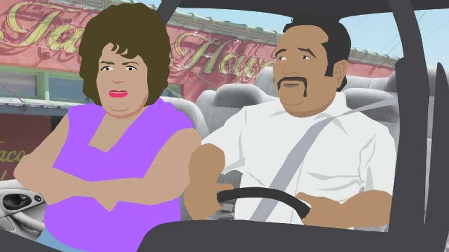 "Ernie and Patsy talk about the wonderful places on the Southside of San Antonio in the animated short film ""Ernie Takes the Long Way Through the Southside. Photo: Courtesy Photo"