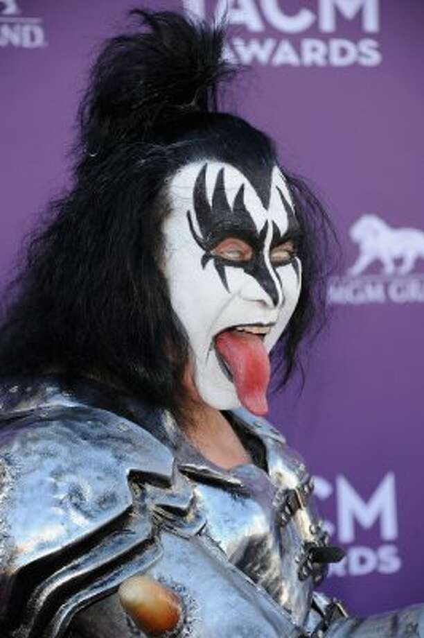 LAS VEGAS, NV - APRIL 01:  Musician Gene Simmons of the rock band Kiss arrives at the 47th Annual Academy Of Country Music Awards held at the MGM Grand Garden Arena on April 1, 2012 in Las Vegas, Nevada.  (Photo by Jason Merritt/Getty Images) (Jason Merritt / Getty Images)