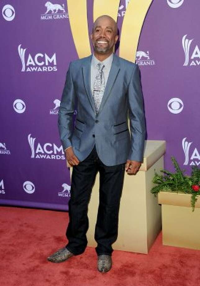 LAS VEGAS, NV - APRIL 01:  Musician Darius Rucker arrives at the 47th Annual Academy Of Country Music Awards held at the MGM Grand Garden Arena on April 1, 2012 in Las Vegas, Nevada.  (Photo by Jason Merritt/Getty Images) (Jason Merritt / Getty Images)