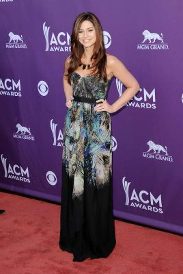 LAS VEGAS, NV - APRIL 01:  Singer Rachel Reinert of Gloriana arrives at the 47th Annual Academy Of Country Music Awards held at the MGM Grand Garden Arena on April 1, 2012 in Las Vegas, Nevada.  (Photo by Jason Merritt/Getty Images) (Jason Merritt / Getty Images)