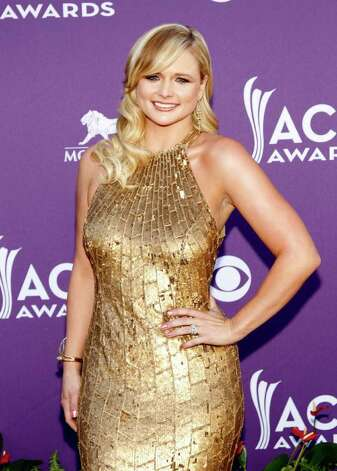 Miranda Lambert arrives at the 47th Annual Academy of Country Music Awards on Sunday, April 1, 2012 in Las Vegas. Photo: Isaac Brekken