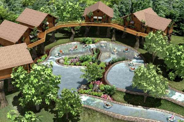 Artist's rendering of TubenBach, the new attraction at Schlitterbahn waterpark in New Braunfels