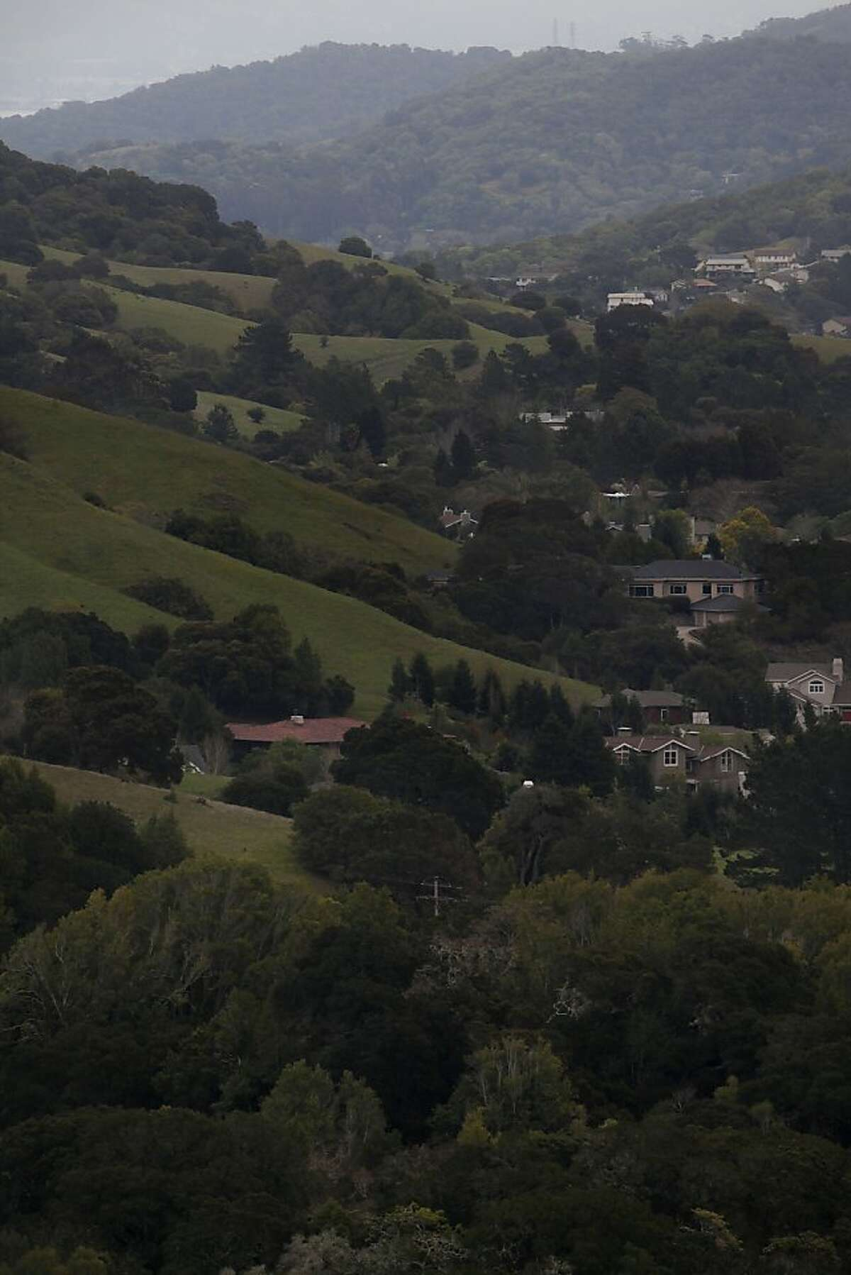 George Lucas will be building a 270,000 square foot digital media production compound on Grady Ranch in San Rafael, Calif., on the clear hillside (front left, in front of red roof) fronting a 174 house community seen in the background on Friday, March 30, 2012.