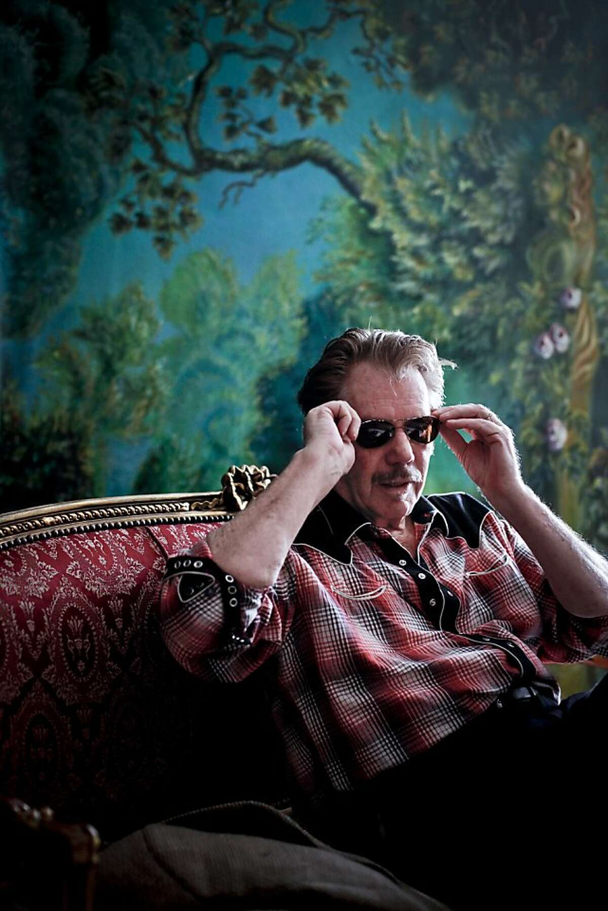Musician Dan Hicks talks about his 70th birthday concert on Friday, March 23, 2012 in Mill Valley, Calif.