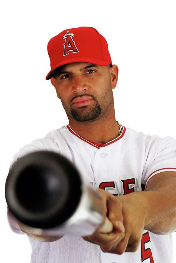 TEMPE, AZ - FEBRUARY 29:  Albert Pujols #5 of the Los Angeles Angels poses during spring training photo day on February 29, 2012 at Tempe Diablo Stadium in Tempe, Arizona. Photo: Jamie Squire, Getty Images / 2012 Getty Images