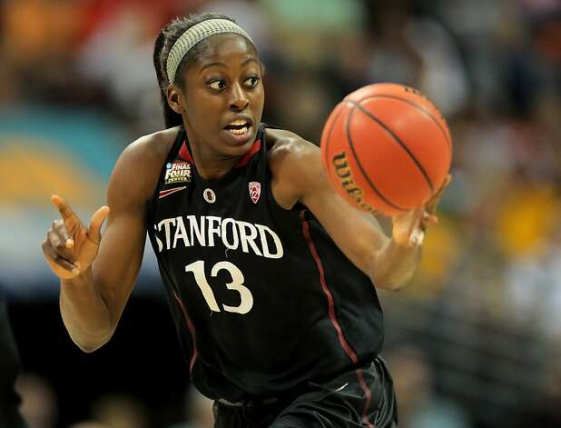 DENVER, CO - APRIL 01:  Chiney Ogwumike #13 of the Stanford Cardinal pushes the ball up court against the Baylor Bears uring the National Semifinal game of the 2012 NCAA Division I Women's Basketball Championship at Pepsi Center on April 1, 2012 in Denver, Colorado.  (Photo by Justin Edmonds/Getty Images) Photo: Justin Edmonds, Getty Images
