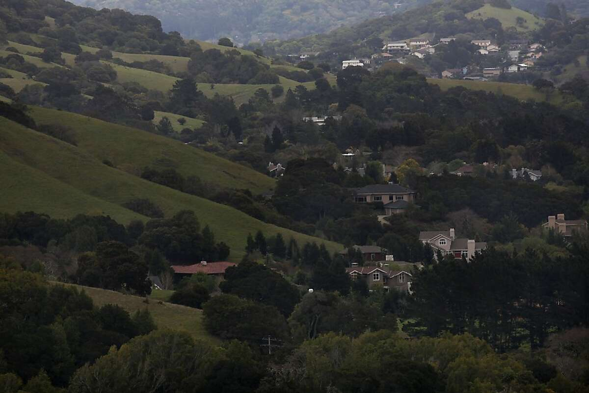 George Lucas will be building a 270,000 square foot digital media production compound on Grady Ranch in San Rafael, Calif., on the clear hillside (front left) fronting a 174 house community seen in the background on Friday, March 30, 2012.