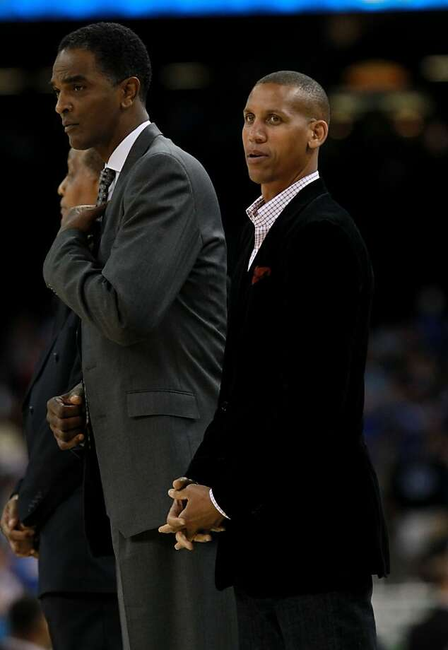 NEW ORLEANS, LA - APRIL 02:  (L-R) Ralph Sampson and Reggie Miller stand on the court during half time of the National Championship Game of the 2012 NCAA Division I Men's Basketball Tournament at the Mercedes-Benz Superdome on April 2, 2012 in New Orleans, Louisiana.  Miller and Sampson, both are new inductees of the Class of 2012 who will be inducted into the Naismith Memorial Basketball Hall of Fame on April 4, 2012. (Photo by Ronald Martinez/Getty Images) Photo: Ronald Martinez, Getty Images