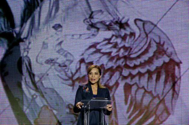 Mexican presidential candidate Josefina Vazquez Mota speaks during the opening her campaign for the July 1 presidential elections in Mexico City on March 30, 2012.  Mota, a 51-year-old economist and former minister, is Mexico's ruling conservative party candidate for presidential elections becoming the first female to stand for president from one of the three main parties.  AFP PHOTO/Alfredo Estrella Photo: ALFREDO ESTRELLA, Getty Images / 2012 AFP