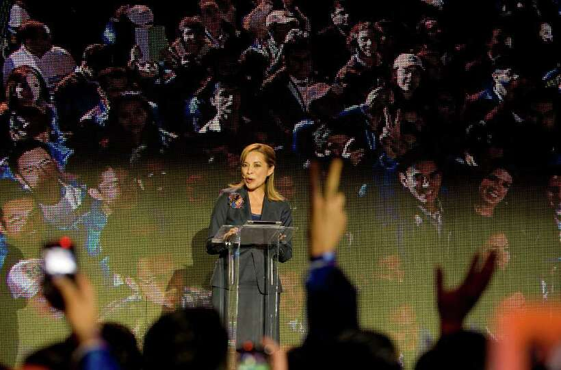 Mexican presidential candidate Josefina Vazquez Mota speaks during the opening her campaign for the