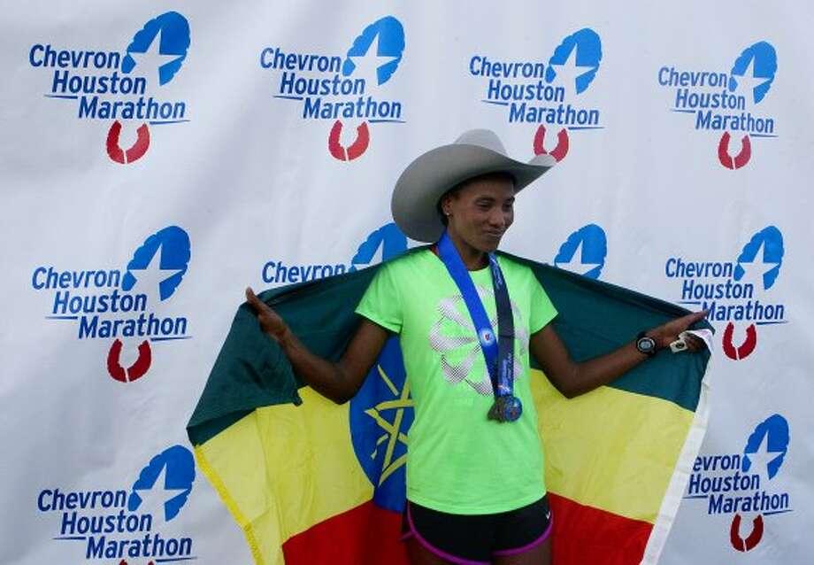 2012 Women's - Alemitu Abera - 2:23:14* - Ethiopia*Course & Texas Record