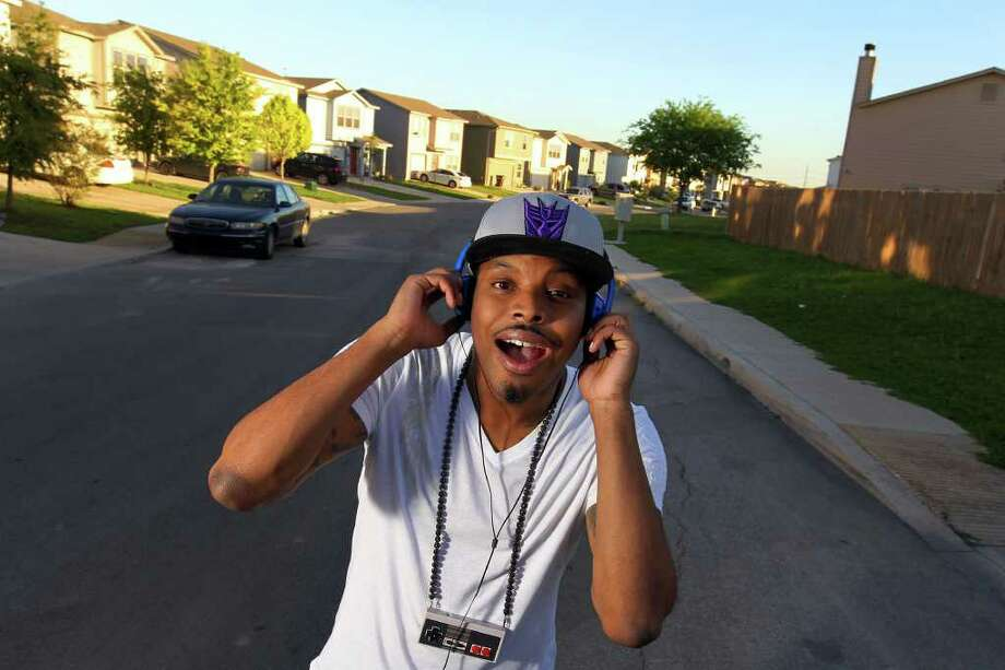 San Antonio's Richie Branson (Marcus Brown) is a hip-hop producer and nerdcore rapper. Nerdcore is a music genre that centers on video games, science fiction and other geeky diversions. Photo: Jennifer Whitney / special to the Express-News