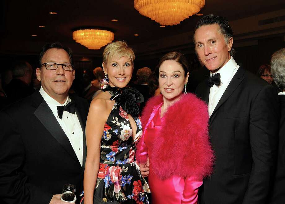 From left: Jim and Jerri Moore with Becca Cason Thrash and Greg Fourticq Photo: Dave Rossman / © 2012 Dave Rossman