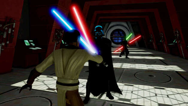 """Kinect Star Wars"" duel with Darth Vader. Photo: Microsoft"