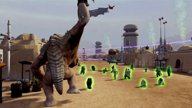 """Kinect Star Wars"" lets you rampage as a rancor monster. Photo: Microsoft"