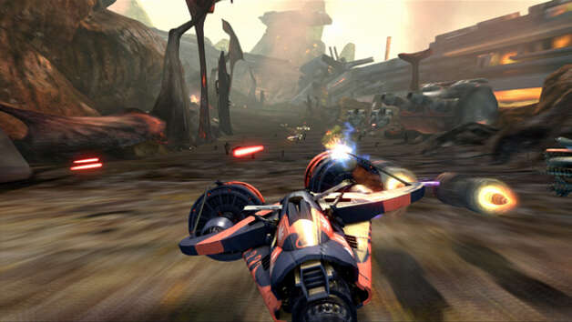 """Kinect Star Wars"" pod racing. Photo: Microsoft"