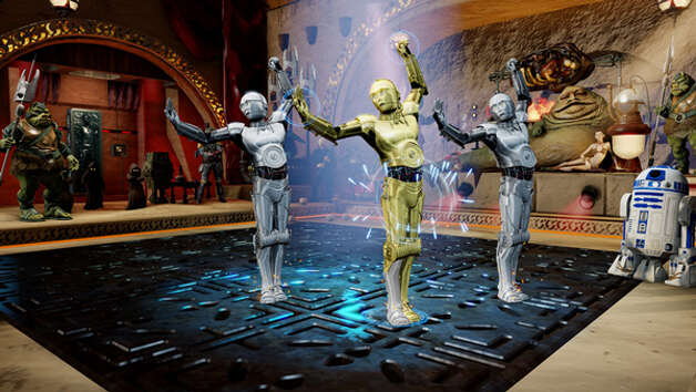 """Kinect Star Wars"" dance with C-3PO. Photo: Microsoft"