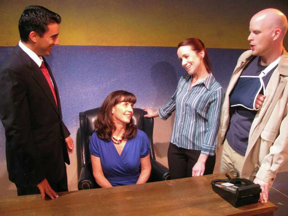 """Steve Wire (from left) Christi Eanes, Heather Kelley and Tyler Keyes appear in """"Cries That Bind."""" Photo: San Pedro Playhouse"""