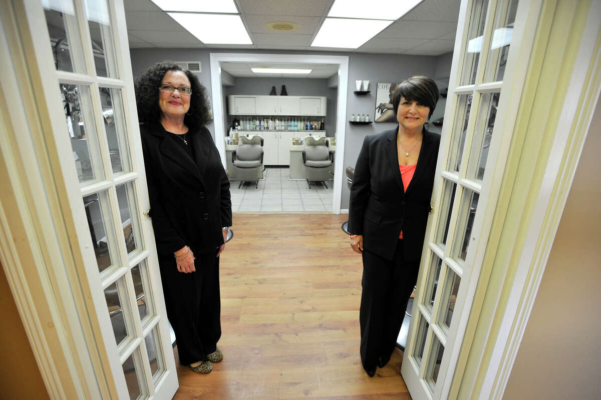 Robin Miller, left, and Maria Rodrigues, co-owners of Escape Salon & Spa, are celebrating their 25th year in business in Bethel. Photographed on Tuesday, April 3, 2012.