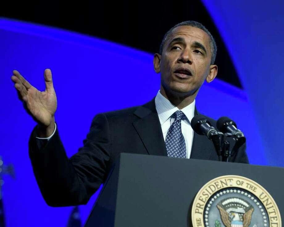 El presidente Barack Obama habla el martes 3 de abril durante una conferencia en el Marriott Wardman Park Hotel de Washington, D.C. Photo: Pool / 2012 Getty Images