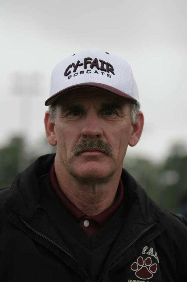 Cy-Fair head Track coach Jimmy Reese. Photo: Kenzie DelaTorre
