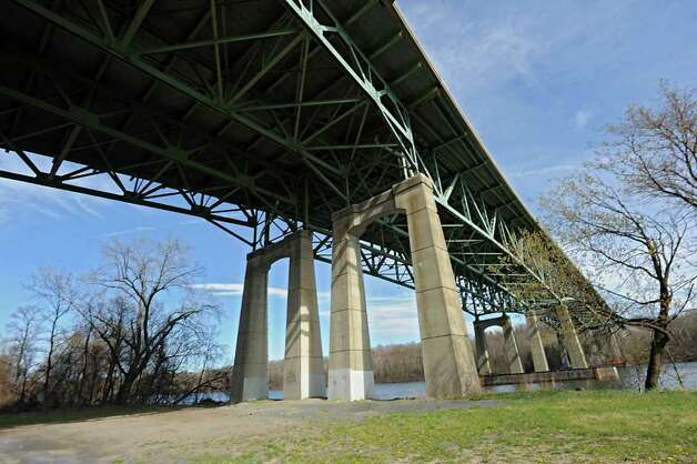The Patroon Island Bridge is viewed from Riverfront Preserve, Tuesday April 3, 2012 in Albany, N.Y. The state will start a major renovation of the Patroon Island Bridge this year, with the two-year project costing a total of $145 million. That project was the big-ticket item on a list of 32 Capital Region road and bridge projects announced Tuesday by Gov. Andrew Cuomo?s office. (Lori Van Buren / Times Union) Photo: Lori Van Buren