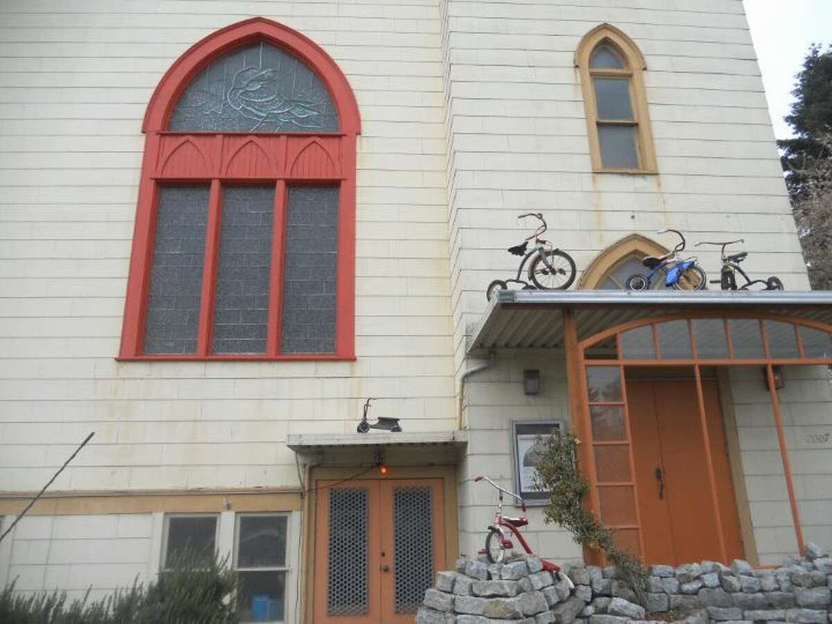 The front of a converted old church called Ballard Big House, at 2007 N.W. 61st St.