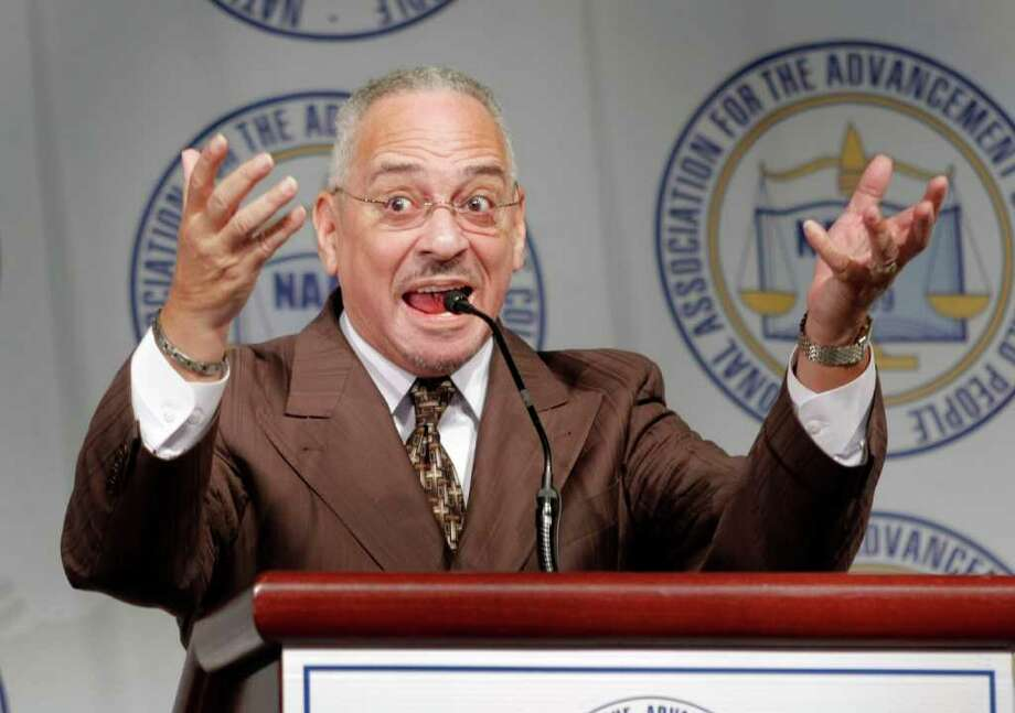 DETROIT, MI - APRIL 27:  Rev. Jeremiah Wright delivers the keynote address at the Detroit NAACP annual Fight For Freedom Fund Dinner April 27, 2008 in Detroit, Michigan. Rev. Wright was Democratic presidential candidate Barack Obama's (D-IL) pastor for twenty years until his recent retirement. (Photo by Bill Pugliano/Getty Images) Photo: Bill Pugliano, Getty Images / 2008 Getty Images