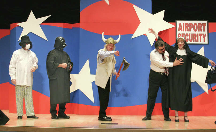 Capitol Steps returns to the Warner Theatre in Torrington Friday with a new show lampooning the 2012 presidential campaign. Photo: Contributed Photo