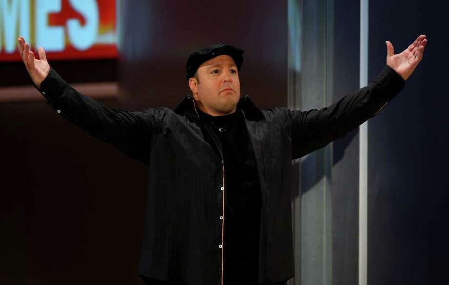 """Kevin James, funny man and star of the hit CBS comedy """"The King of Queens,"""" performs stand-up at Mohegan Sun Arena on Thursday, April 5. Photo: Miguel Villagran, Getty Images / 2009 Getty Images"""