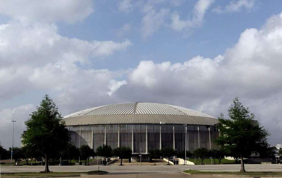 View seen from the parking lot of Reliant Astrodome Tuesday, April 3, 2012, in Houston. Photo: Melissa Phillip, Houston Chronicle / © 2012 Houston Chronicle