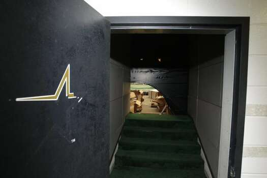 A doorway that once lead to the Astros dugout is shown inside of Reliant Astrodome Tuesday, April 3, 2012, in Houston.   (Melissa Phillip / Houston Chronicle)