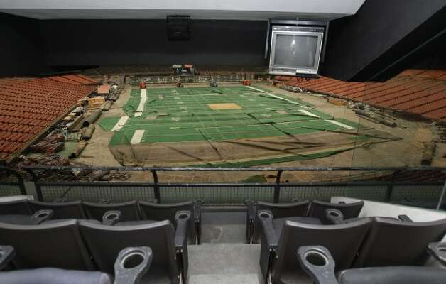 View from a luxury suite in the Reliant Astrodome Tuesday, April 3, 2012, in Houston. (Melissa Phillip / Houston Chronicle)