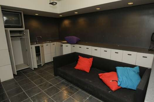 View of a luxury suite in the Reliant Astrodome Tuesday, April 3, 2012, in Houston. (Melissa Phillip / Houston Chronicle)
