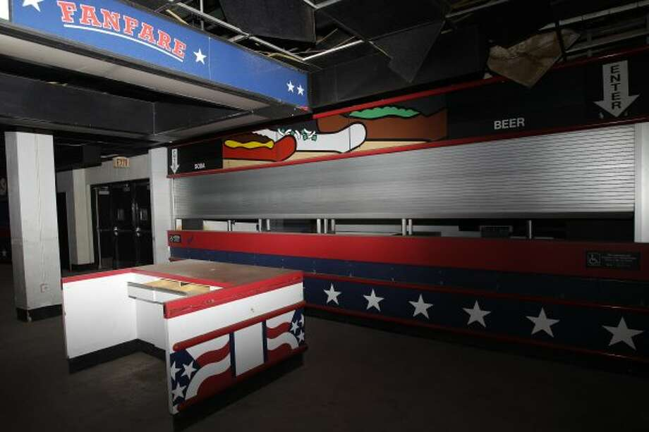 Concession area seen at the Reliant Astrodome Tuesday, April 3, 2012, in Houston. (Melissa Phillip / Houston Chronicle)