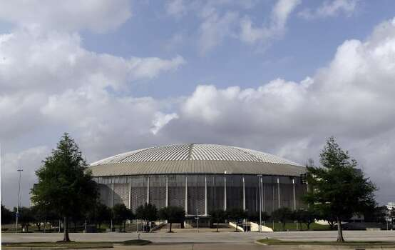 View seen from the parking lot of Reliant Astrodome Tuesday, April 3, 2012, in Houston.  (Melissa Phillip / Houston Chronicle)
