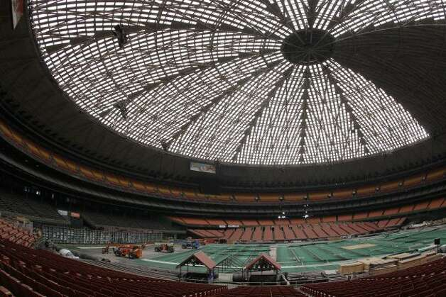View of the Reliant Astrodome seen Tuesday, April 3, 2012, in Houston.  (Melissa Phillip / Houston Chronicle)