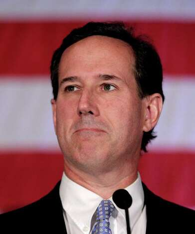 Republican presidential candidate, former Pennsylvania Sen. Rick Santorum speaks during a primary election night party in Cranberry, Pa., Tuesday, April 3, 2012. (AP Photo/Jae C. Hong) Photo: Jae C. Hong