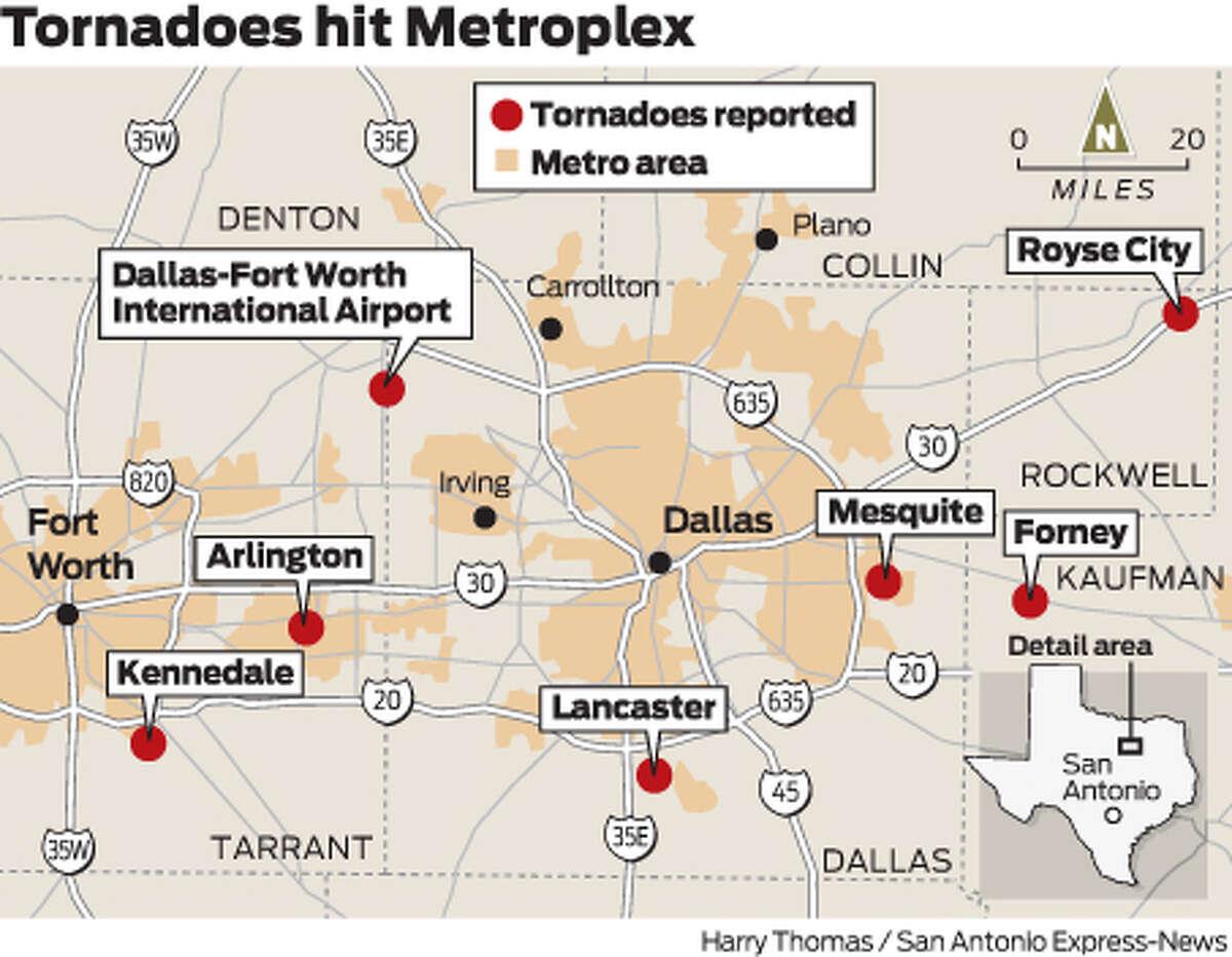 Tornadoes hit Metroplex