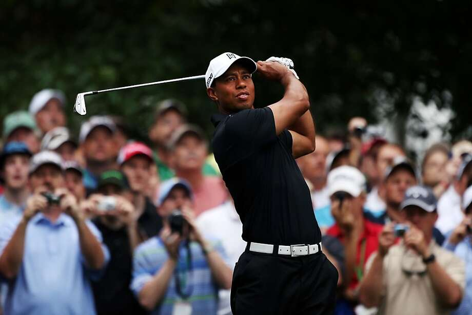Tiger Woods hits a shot during a practice round prior to the start of the 2012 Masters Tournament at Augusta National Golf Club on April 3, 2012 in Augusta, Georgia. Photo: Andrew Redington, Getty Images